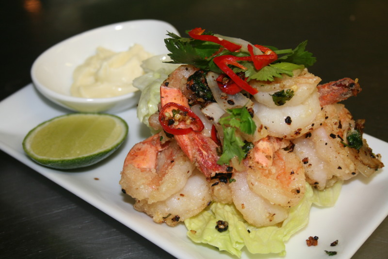 Tom rang muoi - Salt and pepper prawns
